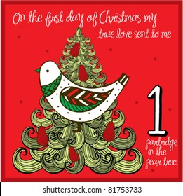 the 12 days of christmas - first day - a partridge in the pear tree