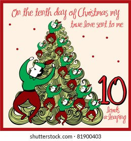 the 12 days of christmas - tenth day - ten lords a leaping