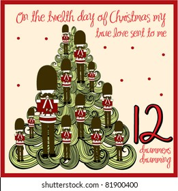 the 12 days of christmas - twelfth day - twelve drummers drumming