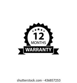 12 months warranty label