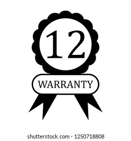 12 months warranty vector icon