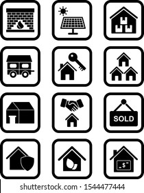 12 real estate Icons For Personal And Commercial Use...