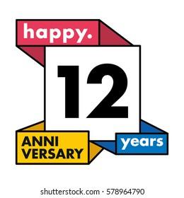 12 Years Anniversary Celebration Design.