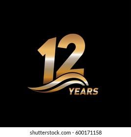 12 Years Anniversary Celebration Design