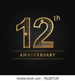 12 years anniversary celebration logotype.