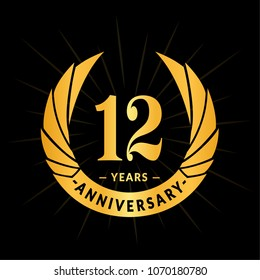 12th Year Anniversary Images Stock Photos Vectors Shutterstock