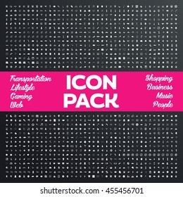 1200 Universal icons pack. General icons set