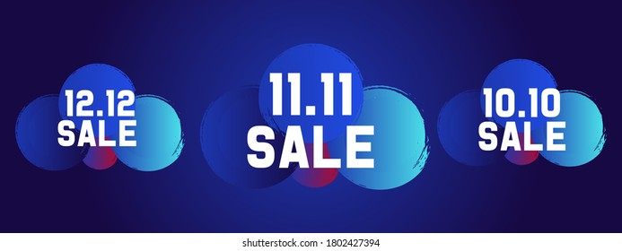 12.12 Shopping day sale banner background 11.11 and 10.10 Sale Vector