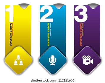 123 hanging tag color, can use for business concept, education diagram, brochure object.