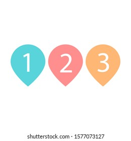 123 place logo point design