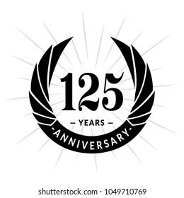 125 years anniversary. Elegant anniversary design. 125 years logo.