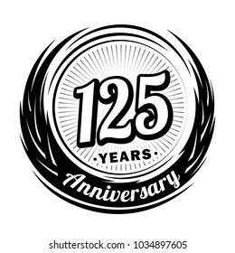 125 years anniversary. Anniversary logo design. 125 years logo.