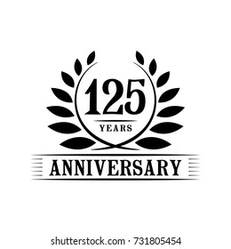 125 years anniversary logo template.