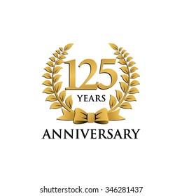 125 years anniversary wreath ribbon logo