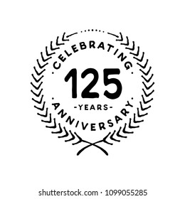 125 years design template. 125th vector and illustration.