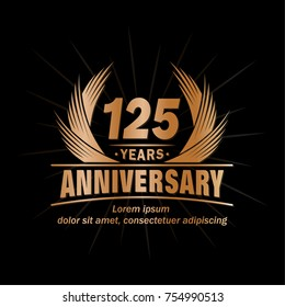 125 years design template. Anniversary vector and illustration template.