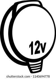 12-volt car power outlet
