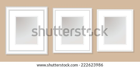12 X 14 Double Mats Frame 8 X 10 Photo Stock Vector Royalty Free