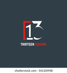 13 Number logo design vector element