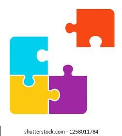 1+3 pieces Puzzle design