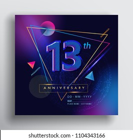 Anniversary invitation images stock photos vectors shutterstock 13 years anniversary logo with colorful galactic background vector design template elements for invitation card stopboris Choice Image