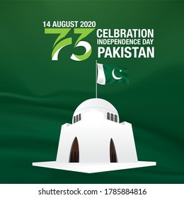 14 August 73 years Celebration of Pakistan Independence day