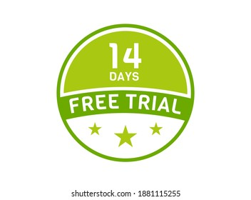 14 days free trial. 14 day Free trial badges