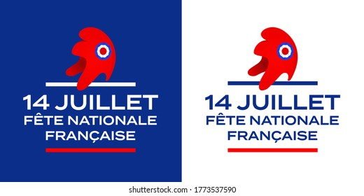 14 juillet fête nationale, July 14 national holiday in French language