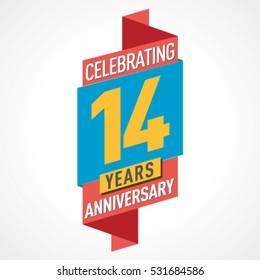 14 Years Anniversary Celebration Design.