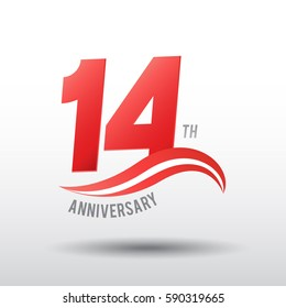 14 Years Anniversary Celebration Design