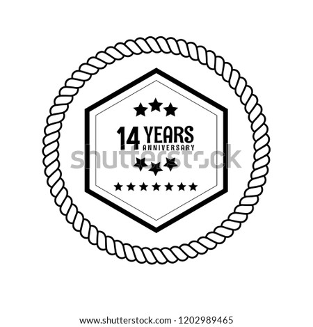 14 years anniversary celebration simple logo stock vector royalty 14th Birthday Cakes for Girls 14 years anniversary celebration simple logo vintage logo