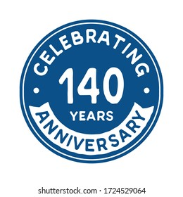 140 years anniversary logo template. Vector and illustration.