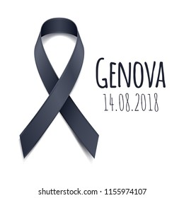 14.08.2018 - Pray for Genova. Tragedy in Italy. Bridge collapsed in italian city