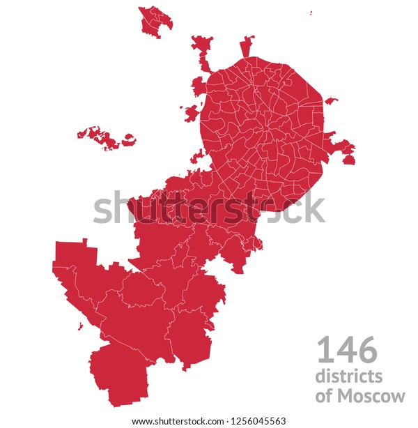 146 districts of Moscow city