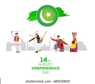 14th of august Pakistan Independence Day Cultural background.