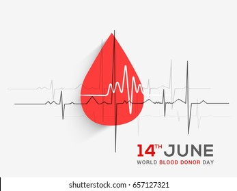 14th June,World Blood donor Day Illustration Of Blood Donation Concept Design.