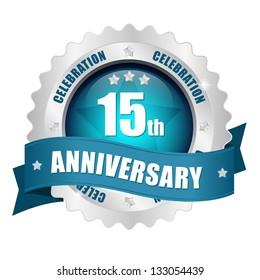 15 anniversary button