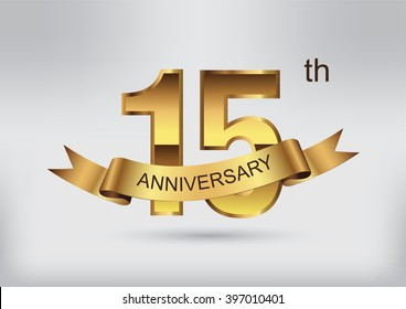 15 anniversary template design.15 years anniversary.Vector illustration.