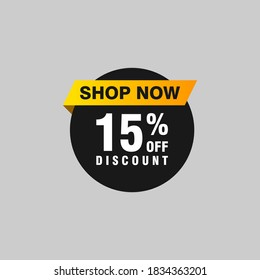 15 discount, Sales Vector badges for Labels, , Stickers, Banners, Tags, Web Stickers, New offer. Discount origami sign banner