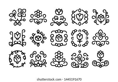 15 Floral Design Icons Vector Pack