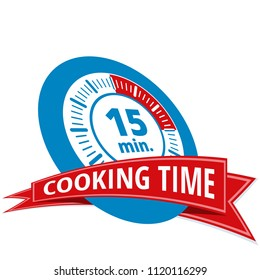 15 minutes cooking time illustration