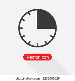 15 Minutes Icon Vector Illustration Eps10