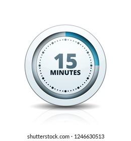 15 Minutes Time button illustration