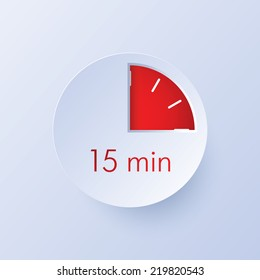15 minutes timer icon