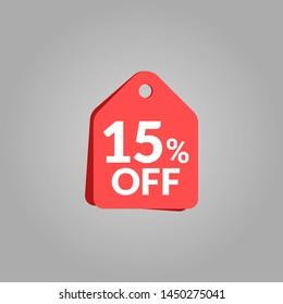 15% off sale banner vektor