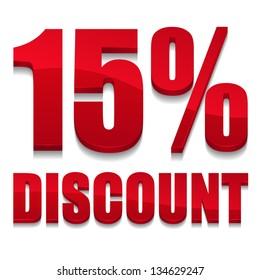 15 percent discount digits