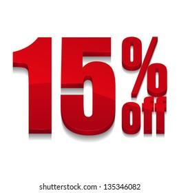 15 percent off digits