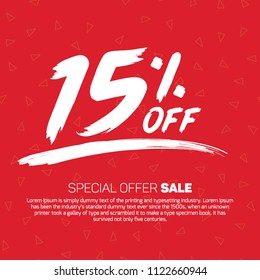 15 Percent off  Special Offer Tag Banner Advertising Promotional Poster Design Vector Offers Mobile Fashion Electronics Home Appliances Books Jewelry
