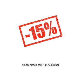 -15% red stamp