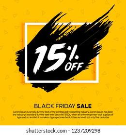 15% Special Offer 15% Percent off 15% off big offer 15% Offer Sale Discount Sale Design Vector Mega  Summer Advertising Promotional Poster Mobile Black Friday Offers